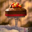 Vintage Style Fruit Cake — Stock Photo