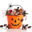 Trick Or Treat Halloween Bucket — Stock Photo