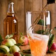 Stock Photo: Pouring Glass of Cider