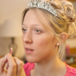 Making Up The Bride — Stock Photo