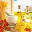 Italian Pasta & Pesto Kitchen - Stock Photo