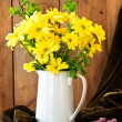 Royalty-Free Stock Photo: Yellow Flower Display Vase