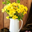 Yellow Flower Display Vase — Stock Photo