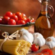 Preparation Of Italian Spaghetti Pasta - Stock Photo