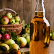 Stock Photo: Bottled Cider With Apples