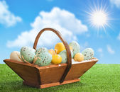 труг пасхальные яйца — Стоковое фото