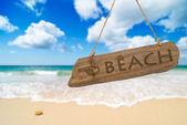 Signo de playa paraíso — Foto de Stock