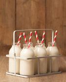 Vintage Milk Bottles — Stock Photo