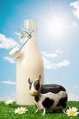 Flaska mjölk — Stockfoto