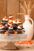 Halloween Chocolate Muffins — Stock Photo