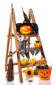 Halloween Pumpkin Step Ladder — Stock Photo