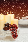 Christmas Still Life With Grapes — Stockfoto