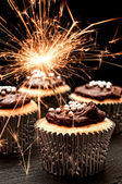 Sparkler Cupcakes — Stock Photo