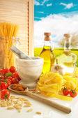 Italian Pasta & Pesto Kitchen — Stock Photo