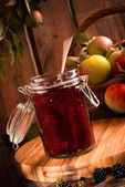Apple & Blackberry Jam — Stock Photo