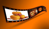 Halloween Pumpkin Film Strip — Stock Photo