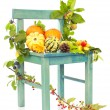 Autumn Still Life Chair — Stock Photo