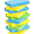 Stack Of Sponges — Stock Photo