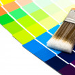 Paintbrush With Swatches — Stock Photo #11481356