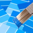 Paint Brush - Blue — Stock Photo