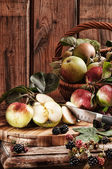 Rustic Apples — Stock Photo