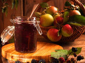 Blackberry & Apple Jam — Stock Photo