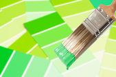Paint Brush - Green — Stock Photo