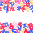 Alphabet Border - Stockfoto