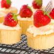 Strawberry Topped Cupcakes — Stock Photo #11505619