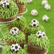 World Cup Cupcakes — Stock Photo