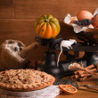 Halloween Pumpkin Pie — Stock Photo