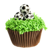 Football Cupcake — Stock Photo