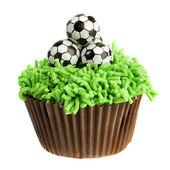 Football Cupcake — Stock Photo
