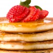 Close Up Pancakes - Stock Photo