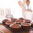 Choc Chip Muffins — Stock Photo