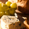 Stilton Cheese With Grapes — Stock Photo