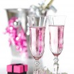 Valentine Pink Champagne — Stock Photo