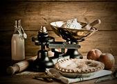 Old Fashioned Apple Pie Dessert — Stock Photo