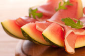 Melon With Parma Ham — Stock Photo