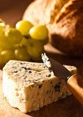 Stilton Cheese With Grapes — Stock Photo