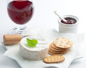 Cheese & Wine — Stock Photo