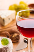 Red Wine With Cheese — Stock Photo
