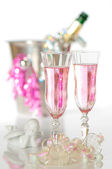 Valentines Champagne — Stock Photo