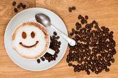 Smiley Face Coffee — Stock Photo