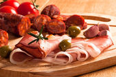 Spanish Chorizo Sausage — Stock Photo