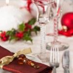 Christmas Table Setting — Stock Photo #11560370