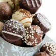 Close Up Chocolates — Stock Photo