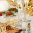 Festive Table Setting - Stock Photo