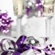Purple Christmas Table — Stock Photo #11560407