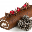 Christmas Yule Log — Stock Photo